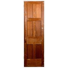 Reclaimed Hardwood Six Panel Interior Door, 20th Century