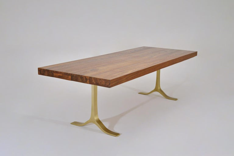 Model: FTOP PT2L-BS1-GT-DO Top: Reclaimed hardwood Top finish: Diamond oiled Base: PT2L base, sandcast brass Base finish: Golden sand Dimensions: 250 x 98 x 75 cm (W x D x H) inches 98.43 x 38.58 x 29.53 inch  P. Tendercool FTOPs – Fantastic