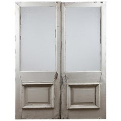 Reclaimed Large Glazed Double Doors, 20th Century