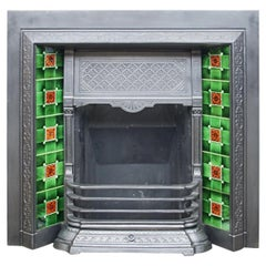 Reclaimed Late Victorian Cast Iron Fireplace Grate