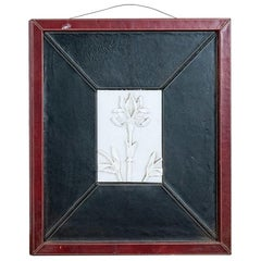 Reclaimed Marble Floral Plaque in Frame, 20th Century