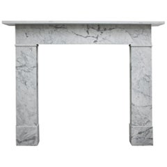 Reclaimed Mid-19th Century Carrara Marble Fireplace Surround