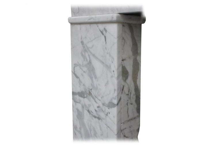 Victorian Reclaimed Mid-19th Century Carrara Marble Fireplace Surround For Sale