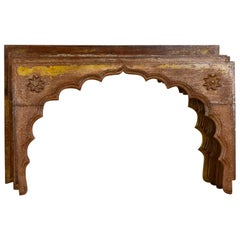 Reclaimed Mihrab Arches with Flower Motif, 20th Century