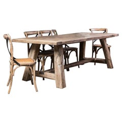 Reclaimed Oak Table, 20th Century