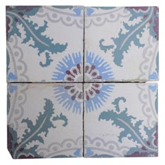 Reclaimed Painted Tiles from France