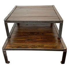 Reclaimed Pallets and Steel Repurposed as a Stacking Coffee Table