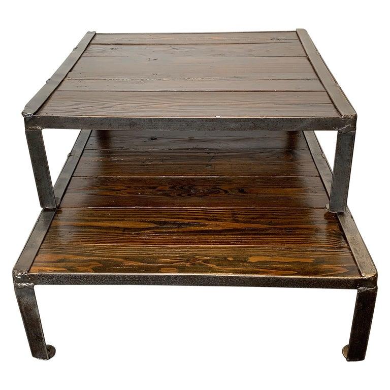 Sensational Reclaimed Pallets And Steel Repurposed As A Stacking Coffee Table Inzonedesignstudio Interior Chair Design Inzonedesignstudiocom