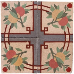Reclaimed Patterned Encaustic Floor Tiles 3 m2 '32 sq ft'