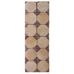 Reclaimed Red and Beige Octagonal Tiles