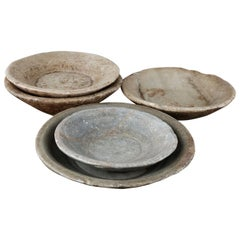 Reclaimed Rustic Marble Bowls, 20th Century