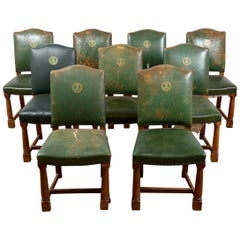 Reclaimed Set of Commerce Chamber Chairs, 20th Century