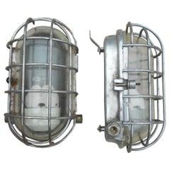 Reclaimed Ship Passageway Lights, 20th Century