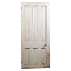Reclaimed Six Beaded Panel Door, 20th Century