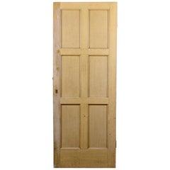 Reclaimed Six Panel Interior Door, 20th Century