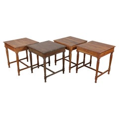 Reclaimed Solid Teak Small Kitchen Tables, 20th Century