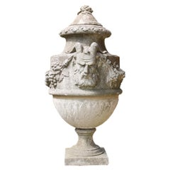 Reclaimed Stone Lidded Urn or Finial