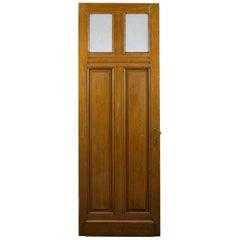Reclaimed Tall Glazed Pine Door, 20th Century