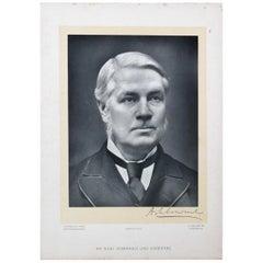 Reclaimed Triple Portraits 19th Century Dignitaries
