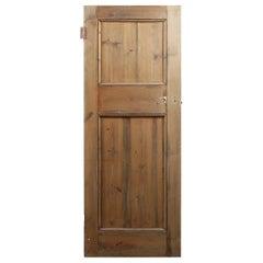 Reclaimed Two Beaded Panel Pine Door, 20th Century