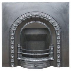 Reclaimed Victorian Cast Iron Arched Fireplace Grate