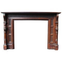 Reclaimed Victorian Jacobean Style Fireplace Surround