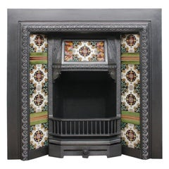 Reclaimed Victorian Tiled Fireplace Grate