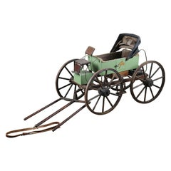 Reclaimed Vintage Four Wheeled Model Cart, 20th Century