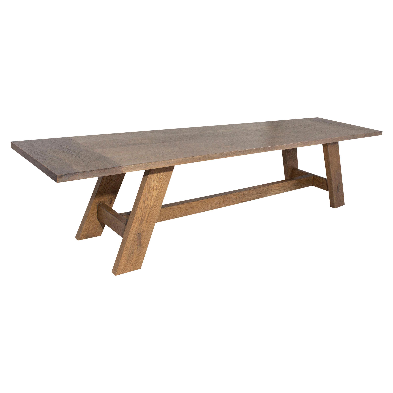 Reclaimed White Oak Dining Table