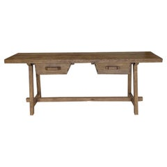 Reclaimed Wood Console with Antique Measuring Box Drawers