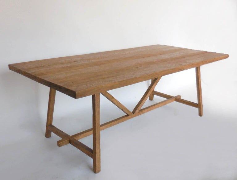 Reclaimed Wood Tavern Dining Table For Sale 4