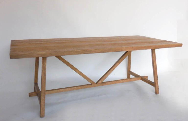 Reclaimed Wood Tavern Dining Table For Sale 5
