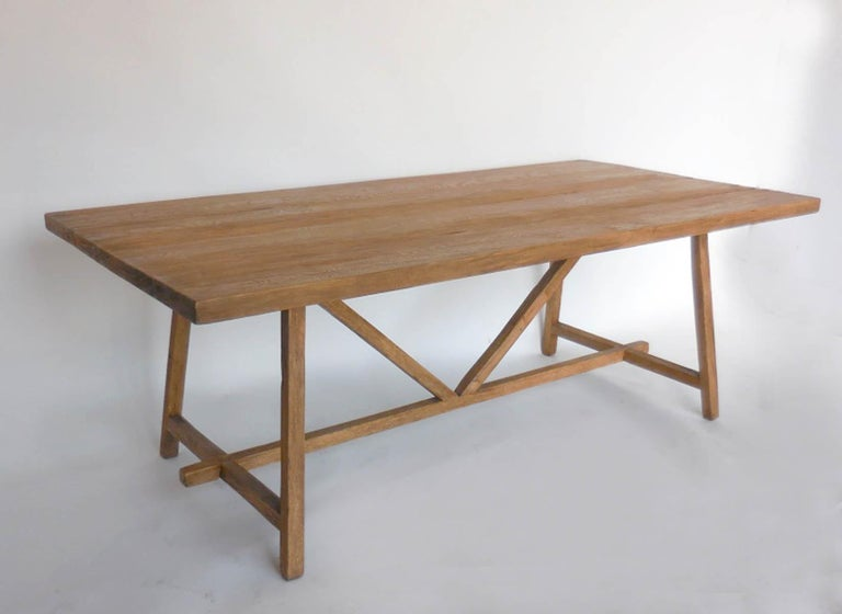 American Reclaimed Wood Tavern Dining Table For Sale