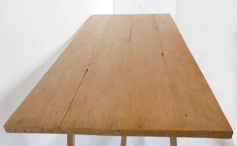 Reclaimed Wood Tavern Dining Table In Distressed Condition For Sale In Los Angeles, CA