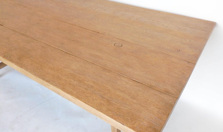 Contemporary Reclaimed Wood Tavern Dining Table For Sale