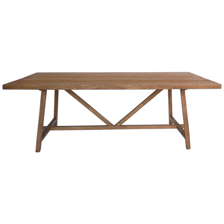 Reclaimed Wood Tavern Dining Table For Sale