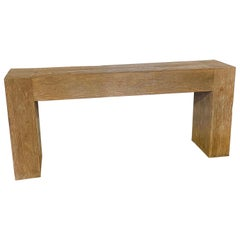 Reclaimed Wood Waterfall Console