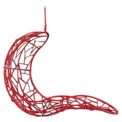 Recliner 'Single' Hanging Swing Chair Steel Modern 21st Century In/Outdoor Red