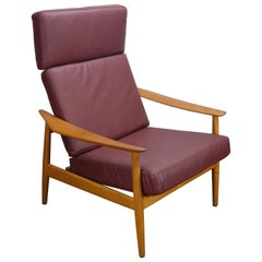 Reclining Armchair by Arne Vodder for France and Søn