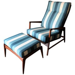 Reclining Chair and Ottoman by I.B. Kofod Larsen for Selig, circa 1960