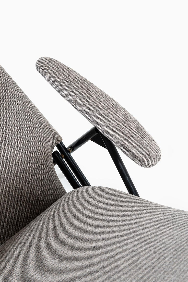 Steel Reclining Easy Chairs Produced in Denmark For Sale