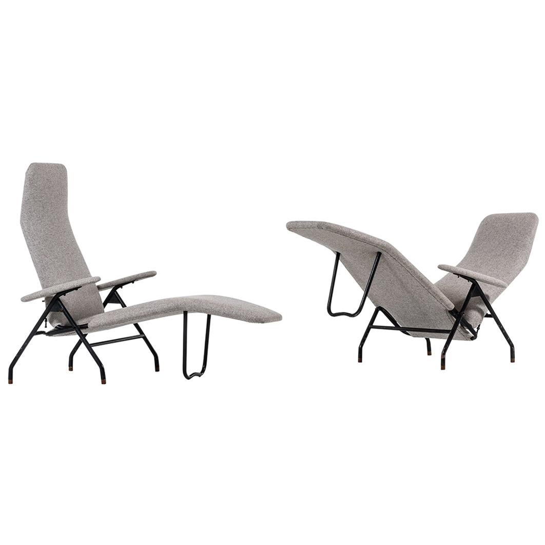 Reclining Easy Chairs Produced in Denmark
