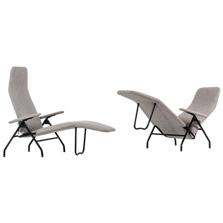Reclining Easy Chairs Produced in Denmark For Sale