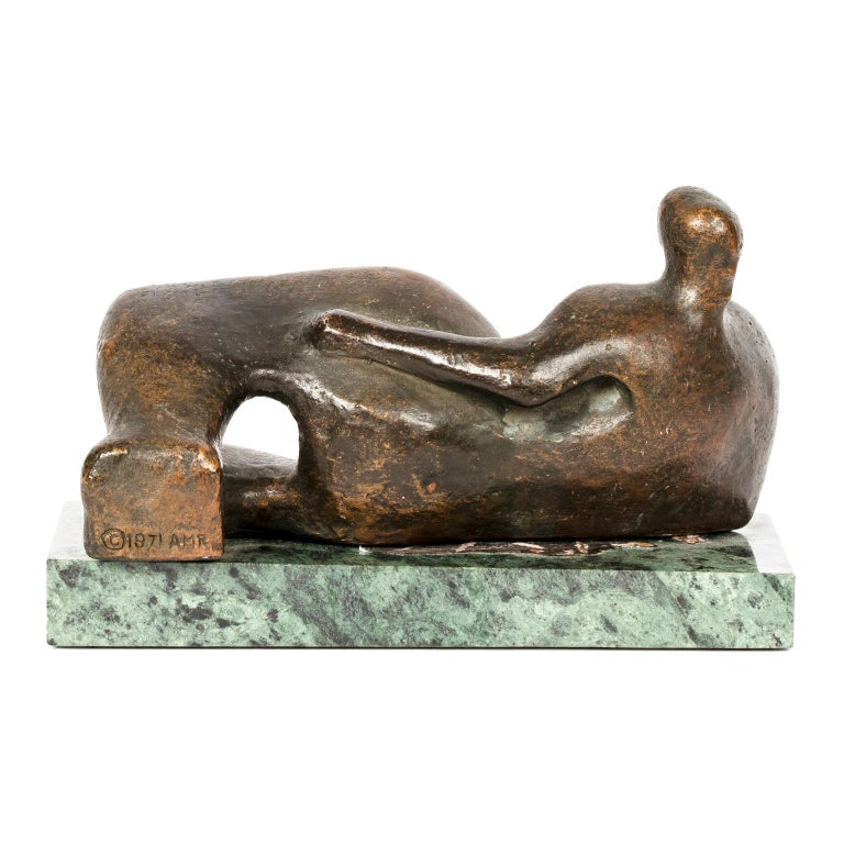 Late 20th Century Reclining Female Figure Reproduction After Henry Moore, circa 1971 For Sale