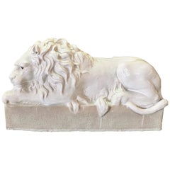 Reclining Italian Terracotta Lion