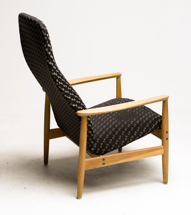 Reclining Lounge Chair by Alf Svensson In Good Condition For Sale In Dronten, NL