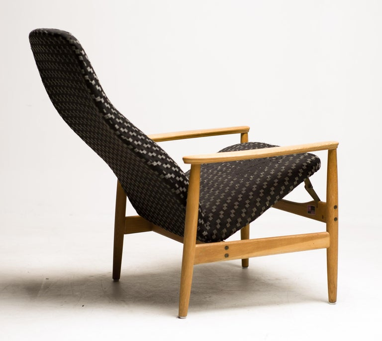 Mid-20th Century Reclining Lounge Chair by Alf Svensson For Sale