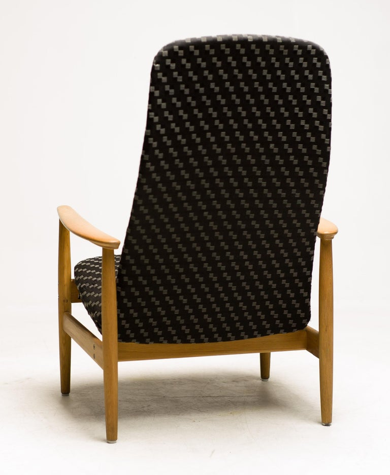 Reclining Lounge Chair by Alf Svensson For Sale 1