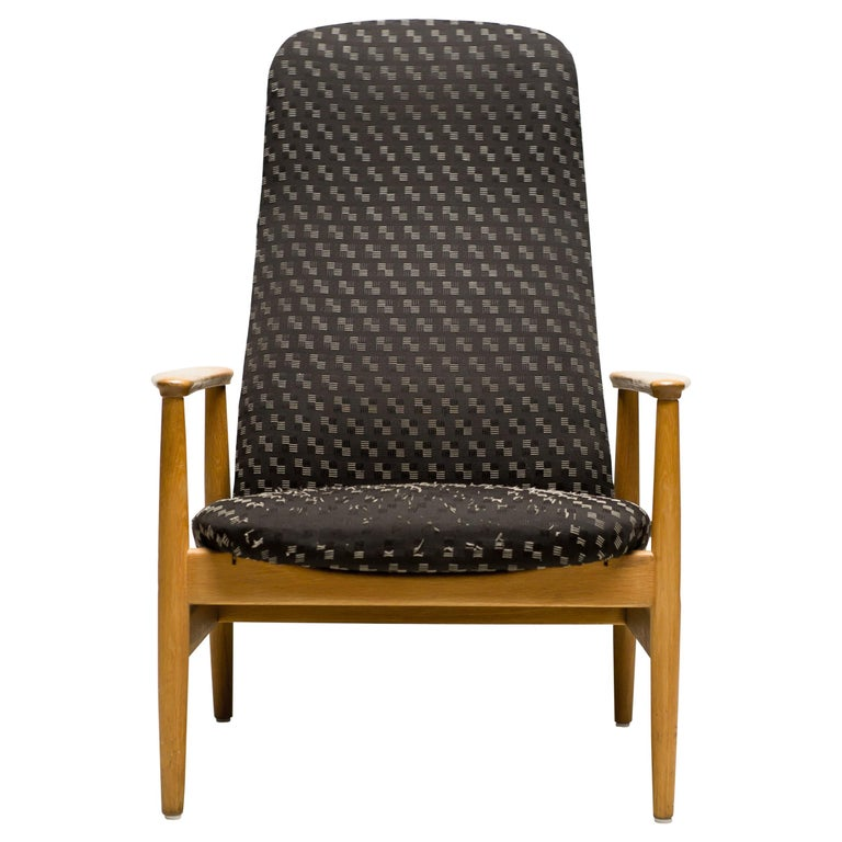 Reclining Lounge Chair by Alf Svensson For Sale