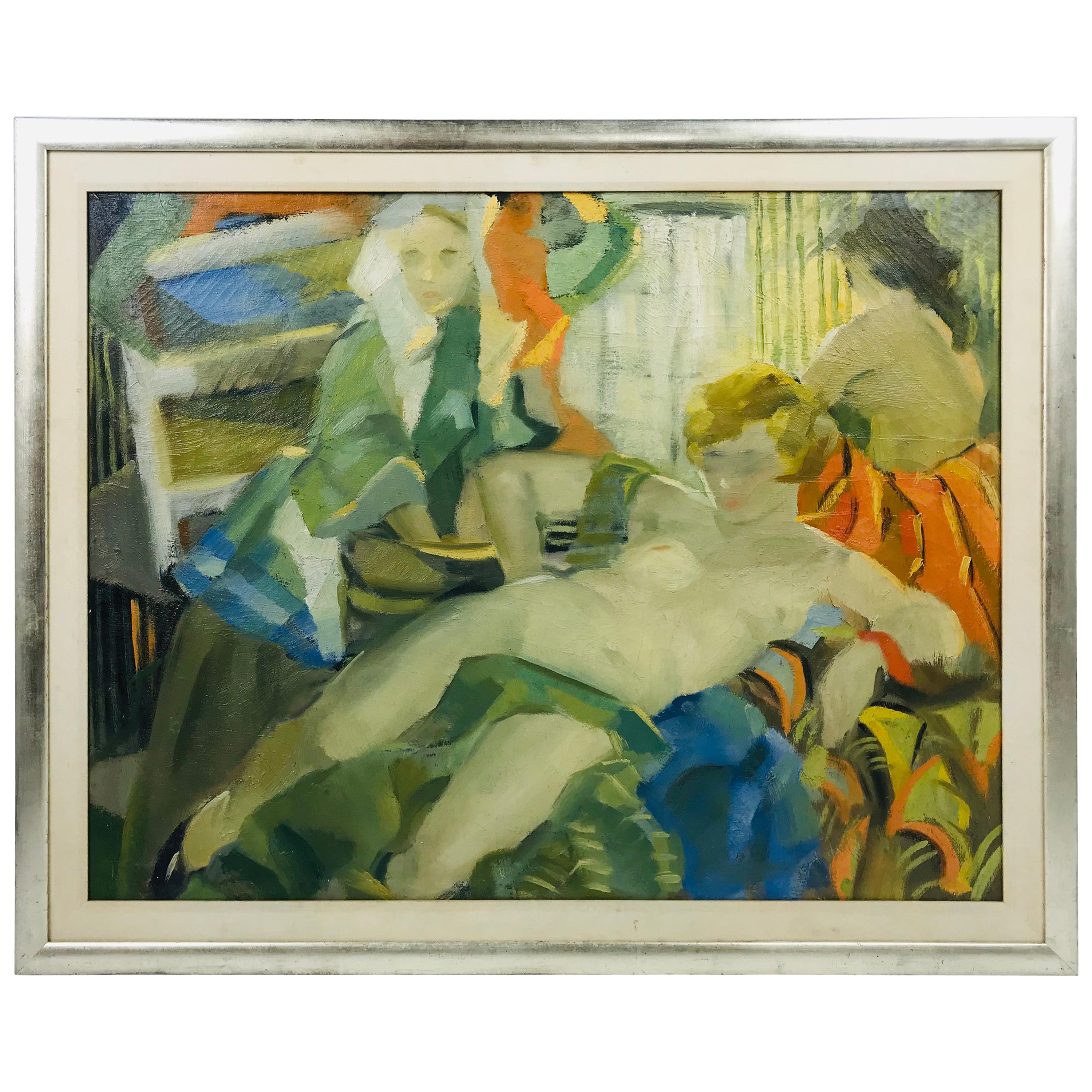 """""""Reclining Nude"""" Oil on Canvas by Listed Artist Audrey Skaling"""